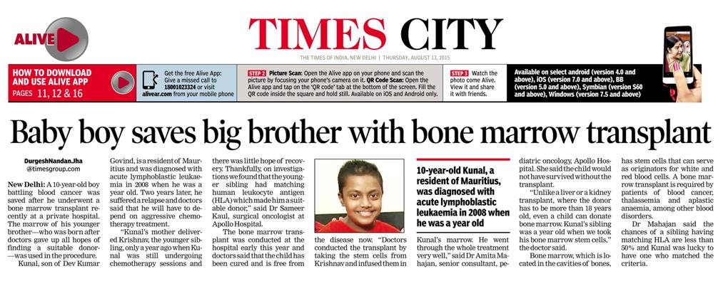 Baby boy saves big brother with bone marrow transplant